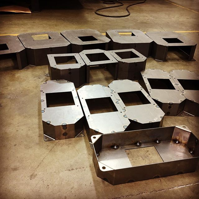 These covers again - cut/form/weld. #lasercut #metalfab #nbd
