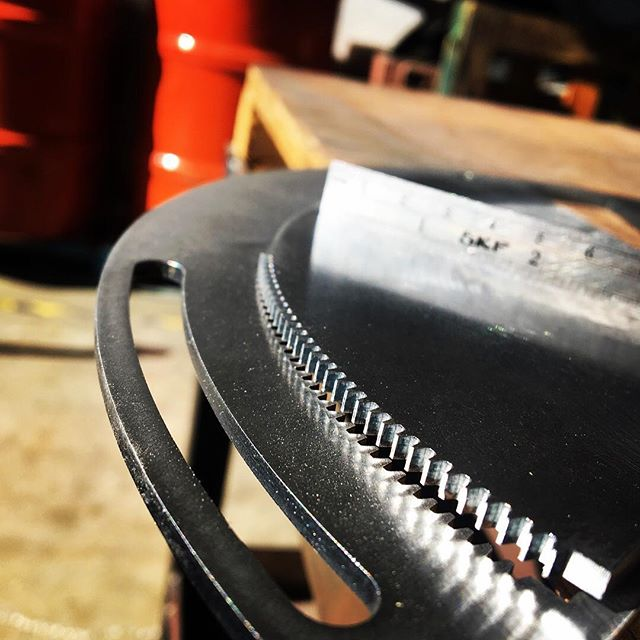 Teeth - 11ga mild steel. #lasercut #lasercutting #cnc #metalfab #precisioncut
