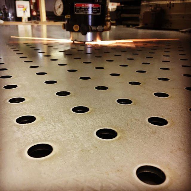 Allz the holez.  #wholez #wholes #lasercut #lasercutting #laser #laserart #metalfab #sheetmetal #contentchallenges #slapafilteronit #andaddsomesparks