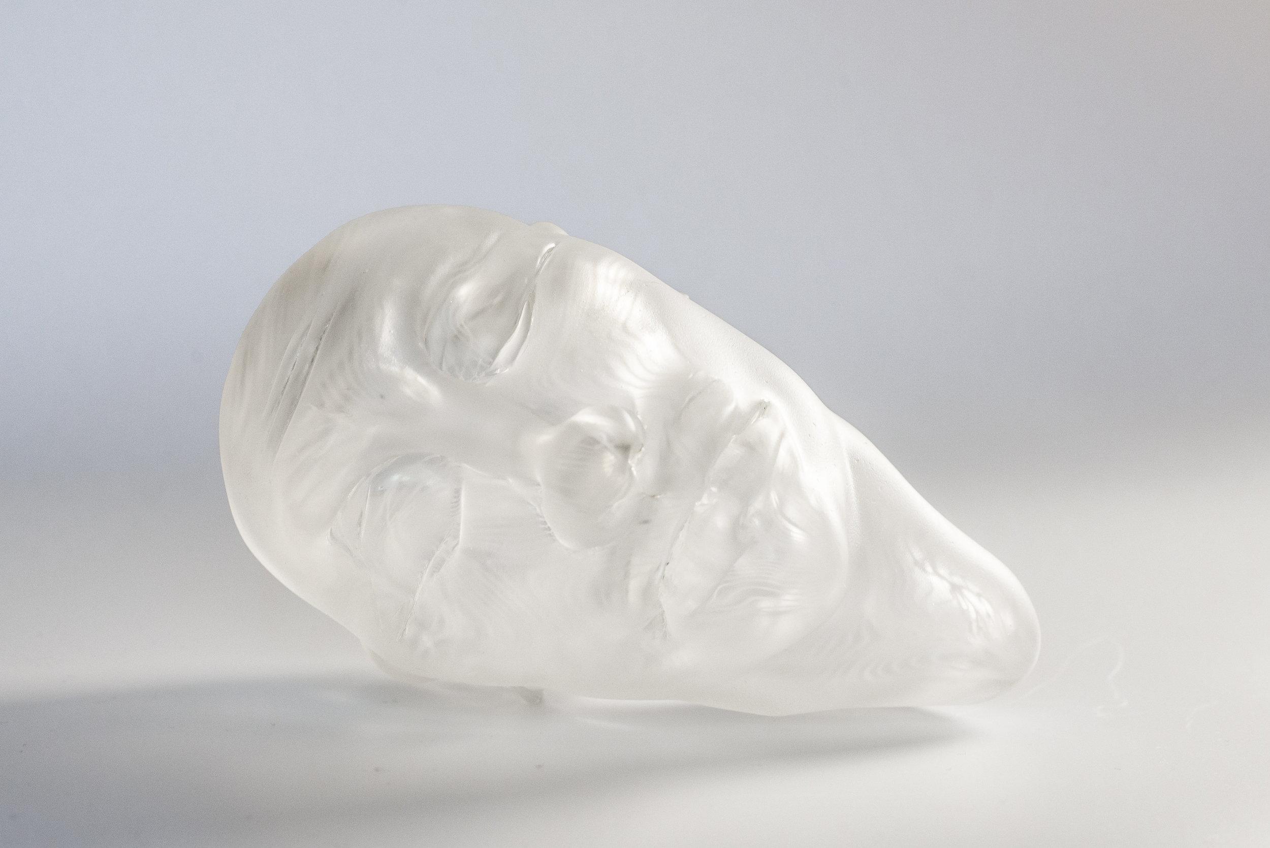 Topo.  Hot sculpting, blown glass. February 2018. 6.5inx4.25in.