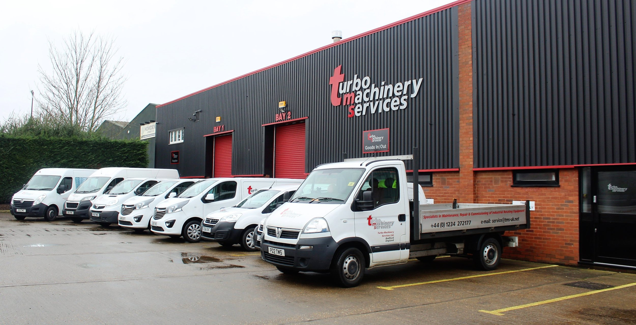 Fully equipped fleet - All engineers have their own vans, fully kitted with tooling to enable a fast response to customer breakdowns. Internal logistics ensure your equipment is cared for by TMS directly when being transported