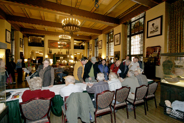 Autograph session at the Ahwahnee Hotel, 50th Anniversary of the First Ascent of The Nose, 11/9/08