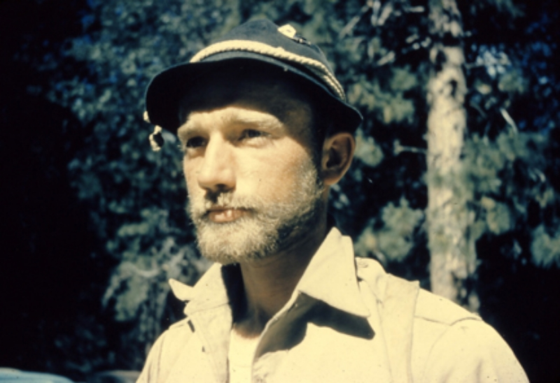 "Dolt, circa late 1950's. Glen Denny and Jerry Gallwas corrected me in identifying Dolt. I had thought it was Mark Powell because he was known for wearing a similar hat. Apparently this hat style was popular in the late ""50's."