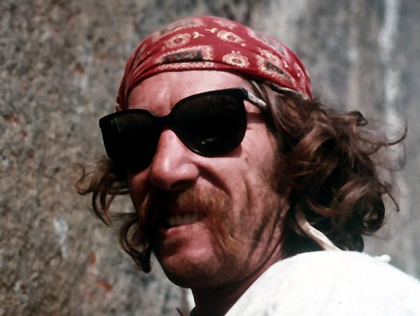 Jim Bridwell during the climb.