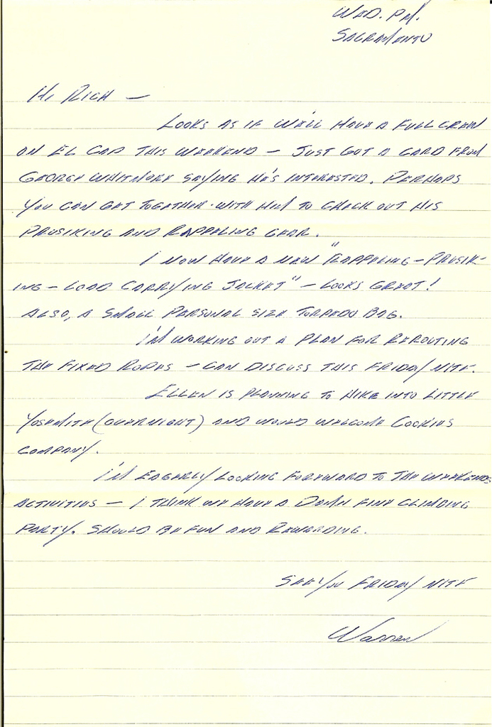 Copy of Letter to Rich Calderwood