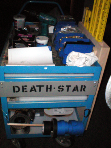 """The mother ship of all tool carts """"the Death Star""""."""