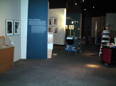 In fact, the whole exhibit is coming together.