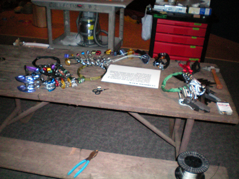 The gear table in the Camp 4 section.