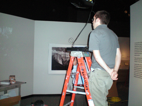 Zak working on the video.