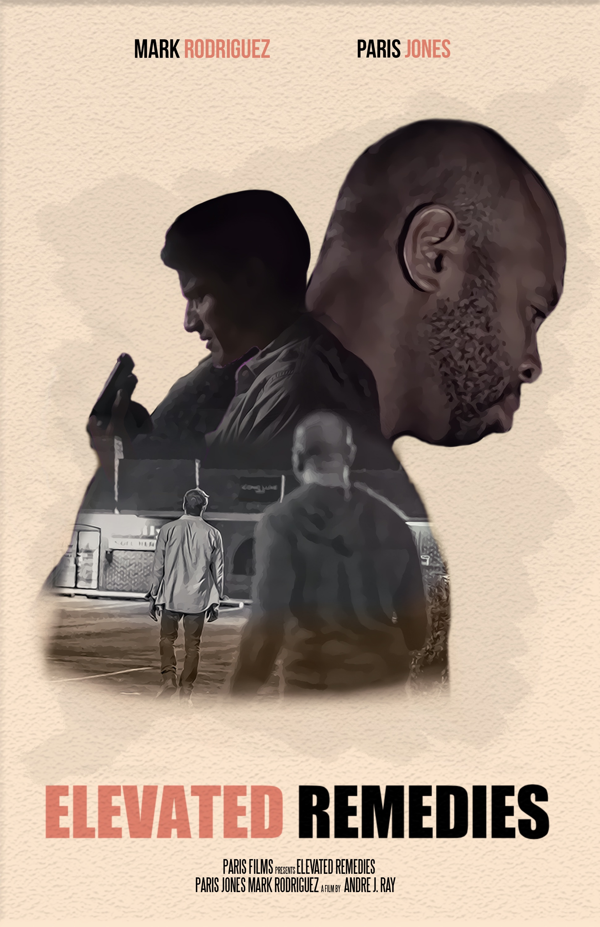 Elevated Remedies - As a man prepares to shoot himself he notices another man about to jump off the building and intervenes.Written &Directed by Andre J. Ray
