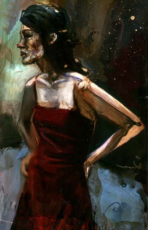 David-Choe-Red-Nose-Red-Dress