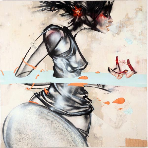 Waist-deep by David Choe