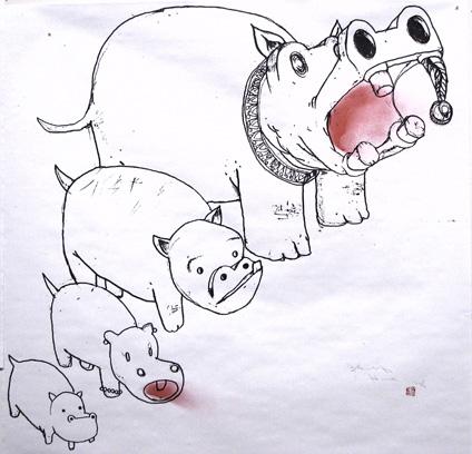 David-Choe-Hippo-Family