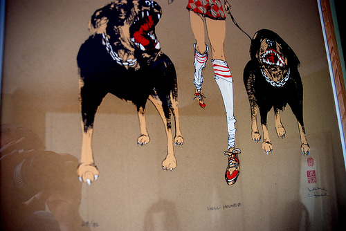 Hell Houndz print by David Choe