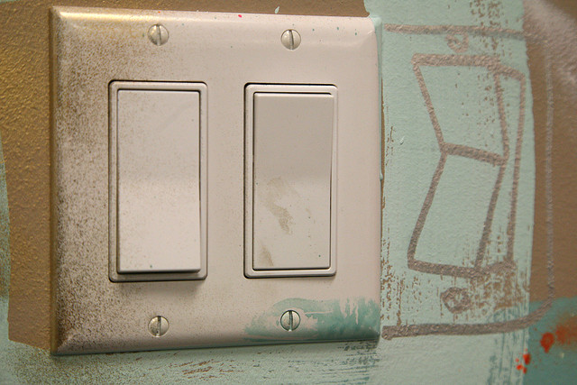 Facebook lightswitch by David Choe