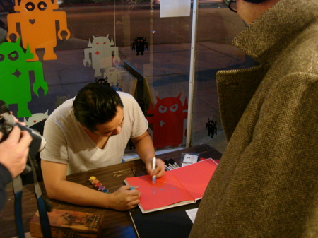 David-Choe-Signing-Giant-Robot-02