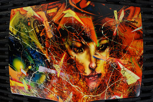 """""""Toxic LA Sunsets and the Dirty Moon Hangs Like a Filthy Fingernail"""" by David Choe"""