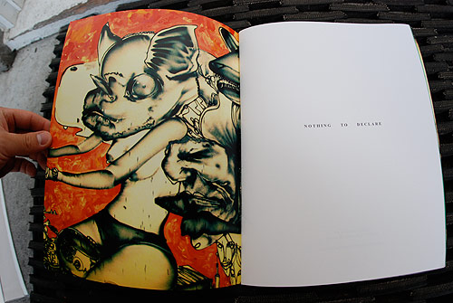"Other half of ""Munko, batgirl on bike, old man, mechanical bull, horse head, ..."" by David Choe"