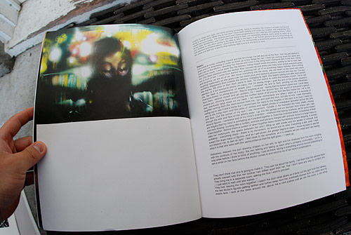 """""""Heartbreak Hangs In The Left Corner Of The Rear View Mirror"""" by David Choe. Artwork featured in David Choe: Nothing to Declare Zine for Lazarides show in 2010."""