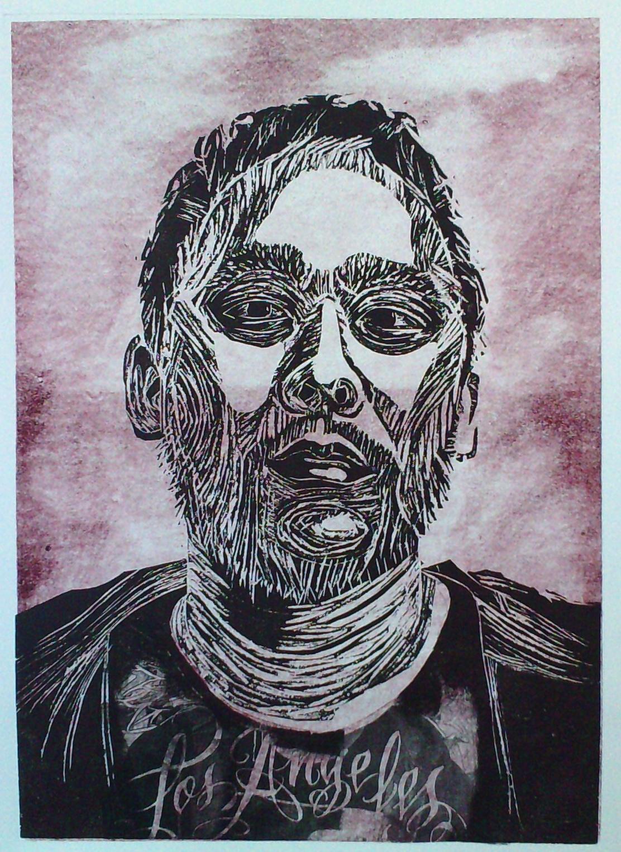 David-Choe-LA-Mixed-Media-relief-Print