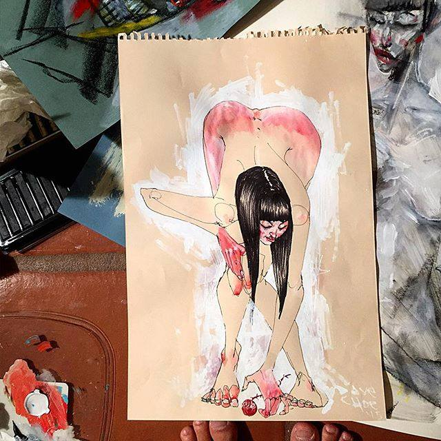David-Choe-Red-Rose-toes-and-tailbones