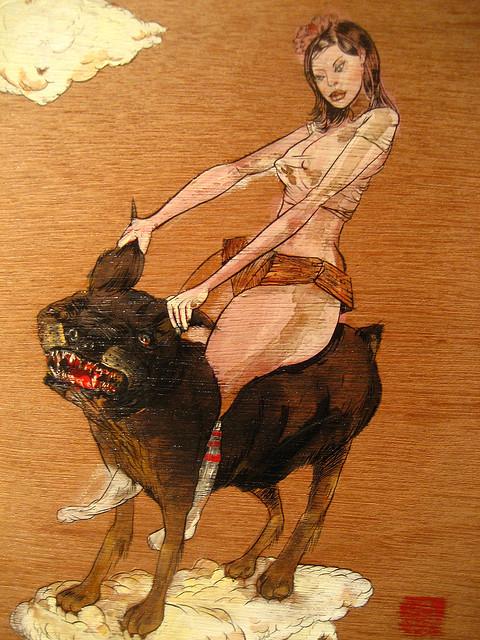 David Choe art from Gardeners of Eden show