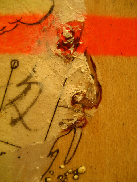 detail of a man's face on David Choe artwork
