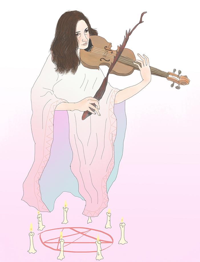 Violin- Gigi from Mangchi - art by Tae Lee