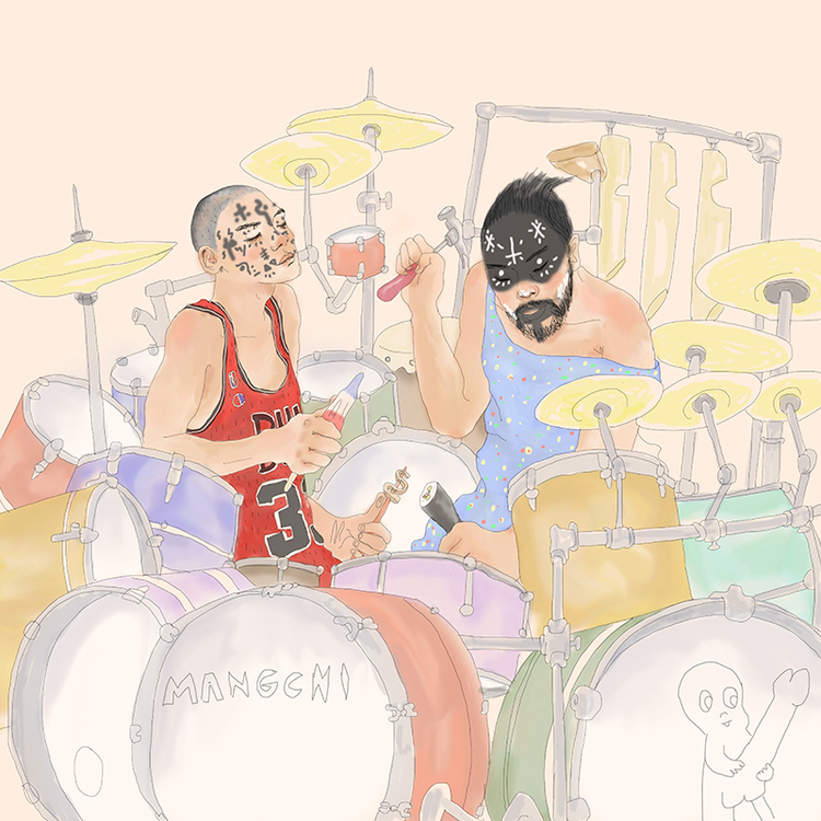 Dylan the Kid and Igloo Hong Drumming by Tae Lee - Mangchi