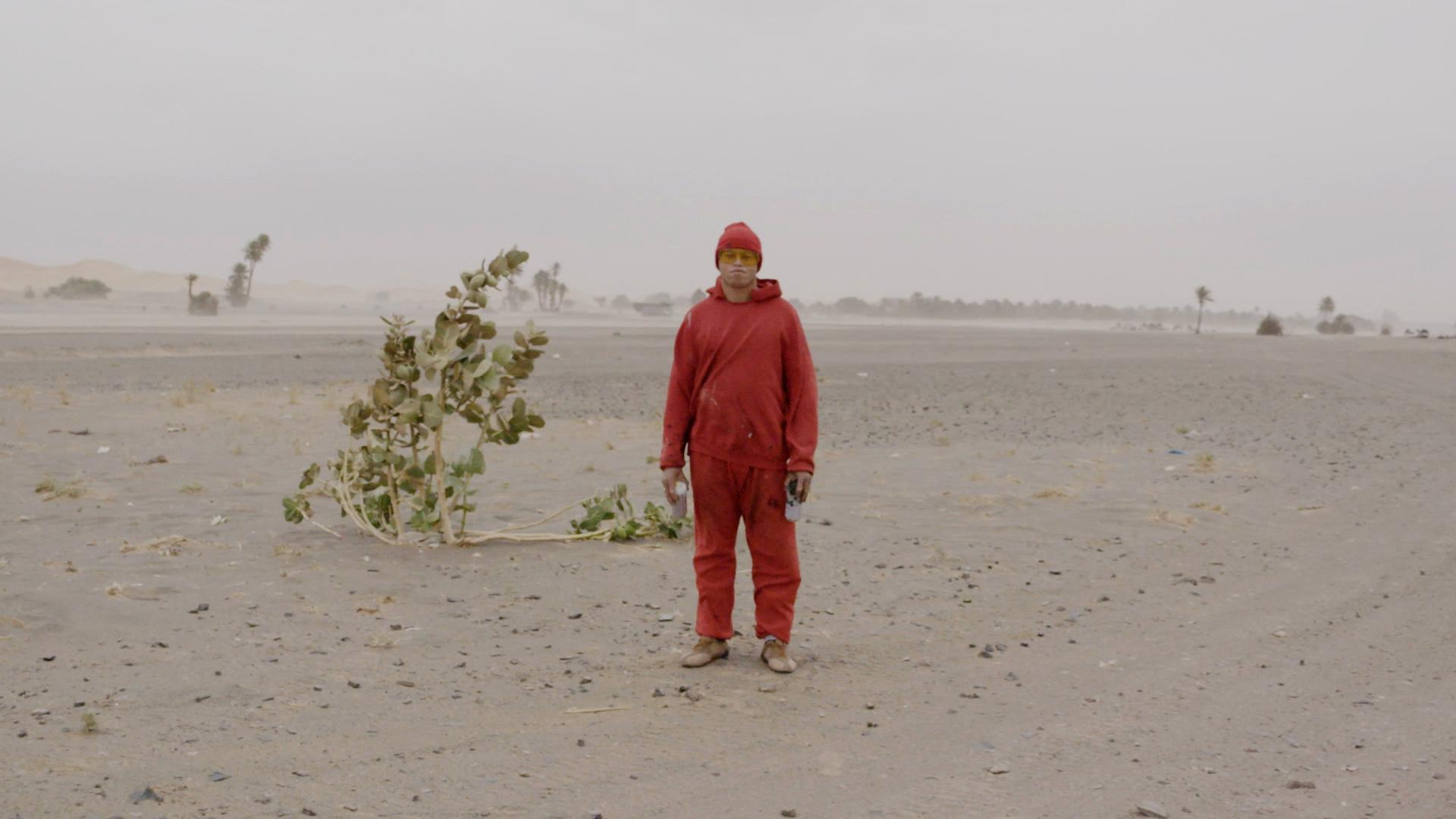Man in the Desert. Igloo Hong, Morocco.