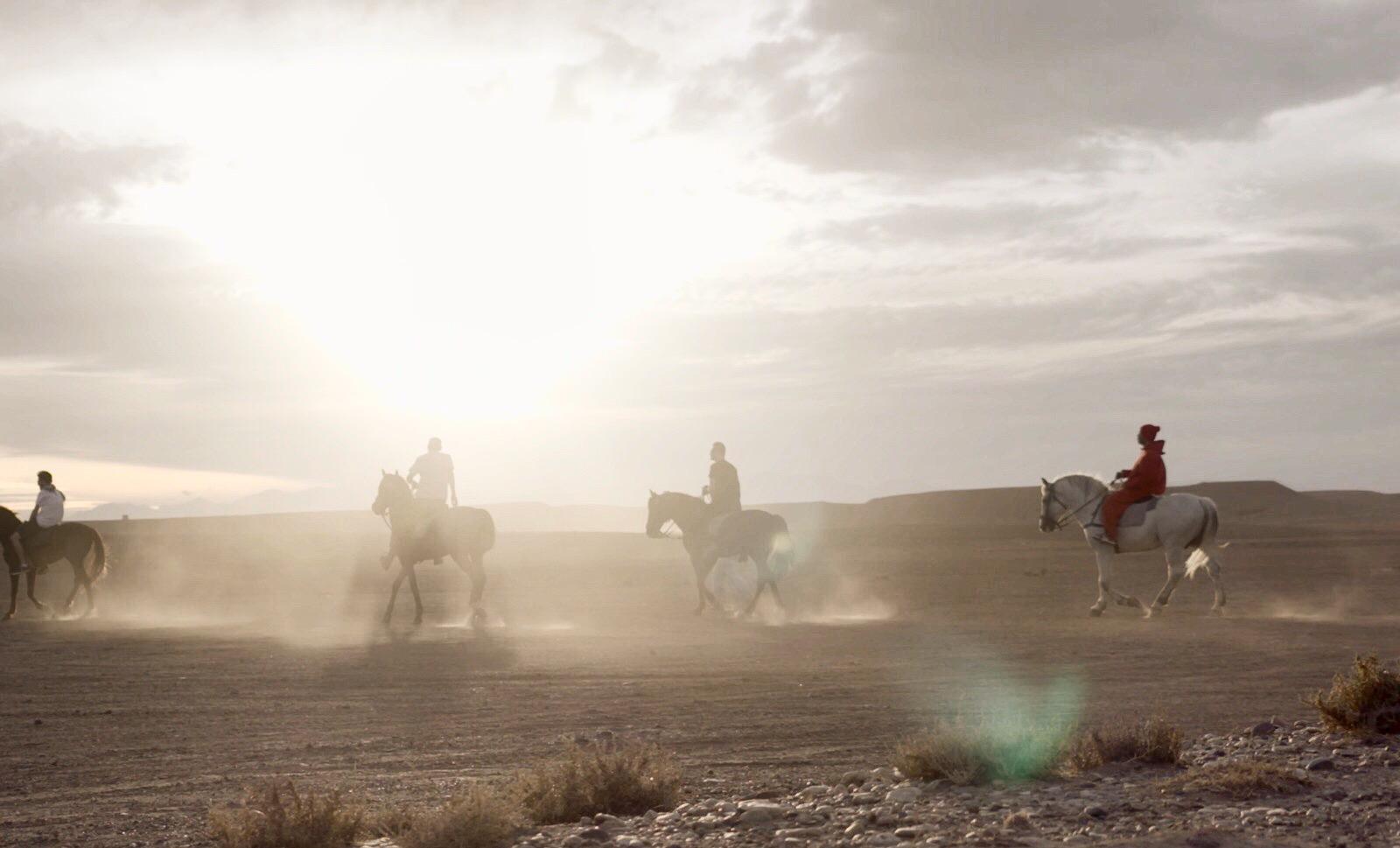 Desert Riders. Igloo Hong, Sahara Desert, Morocco