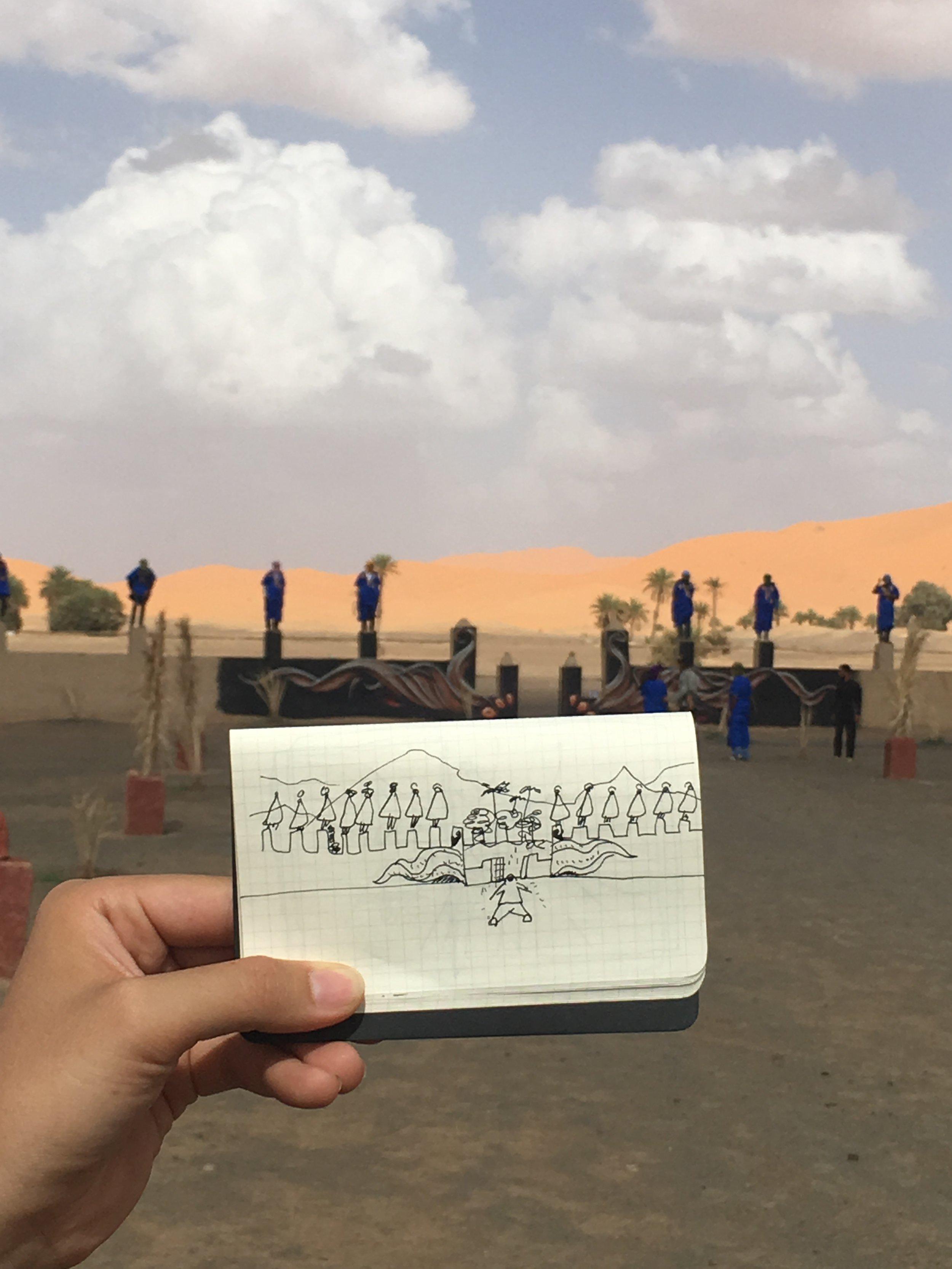 Wall ambitions. Igloo Hong project Morocco.
