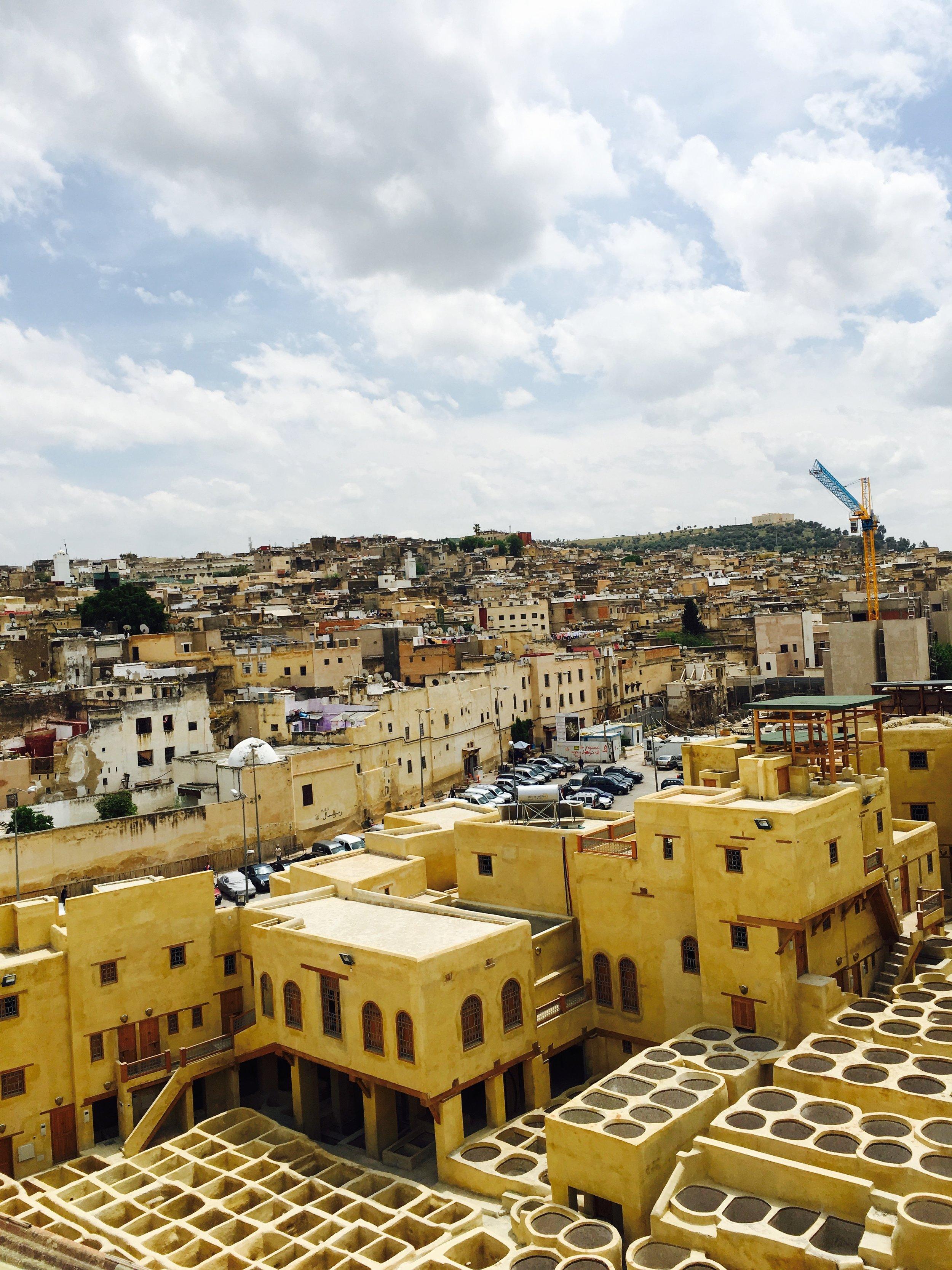 Yellow city. Morocco. Igloo Hong journey