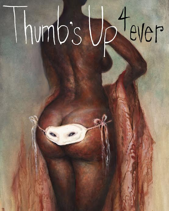 Painting by artist Esao Andrews for Thumbs Up! Forever Instagram and Snapchat stories