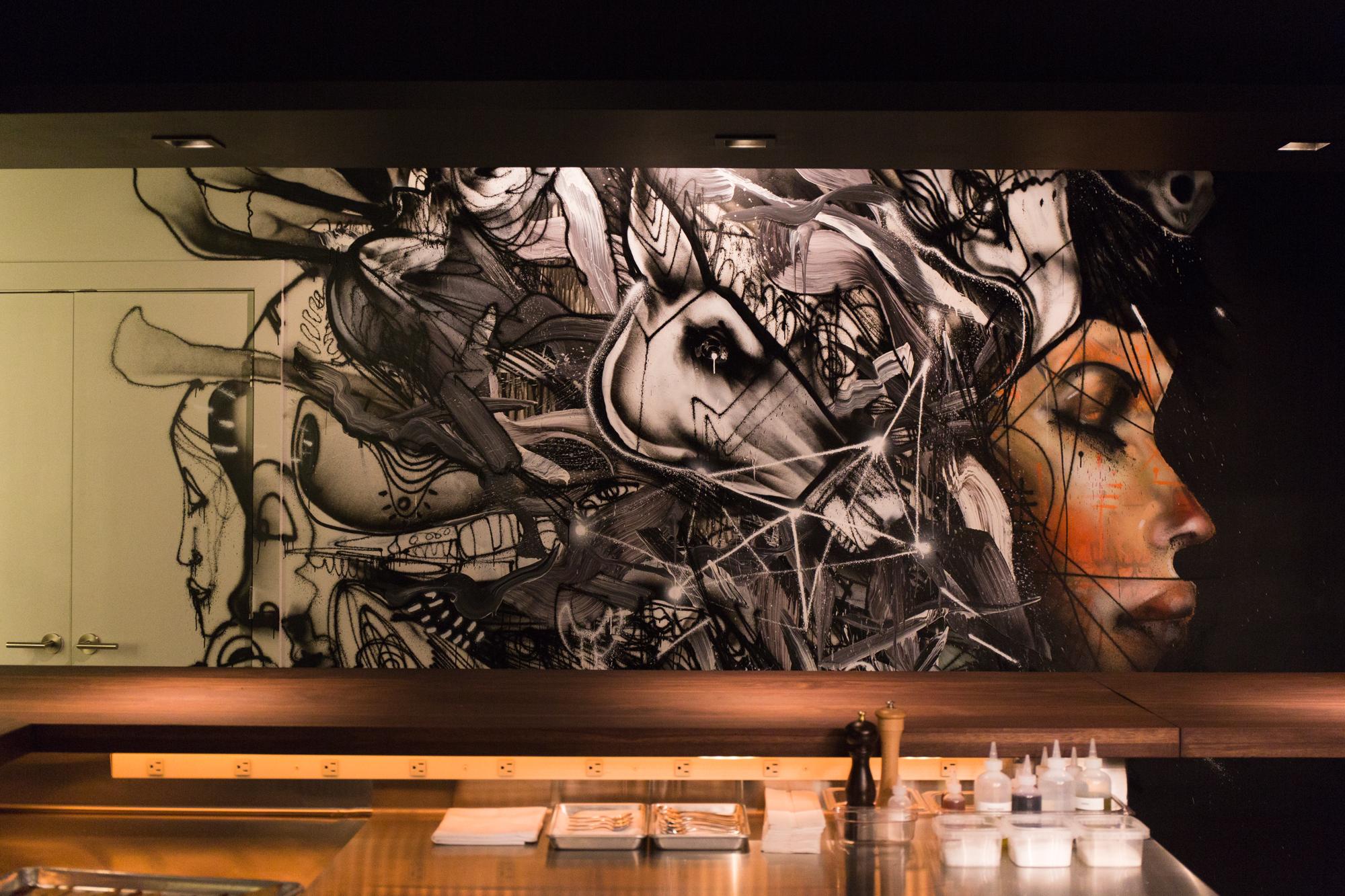 David Choe mural at Momofuku Nishi, New York. Credit: Gabriele Stabile