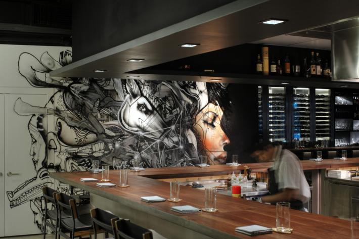 David Choe Mural at Momofuku Ko NY