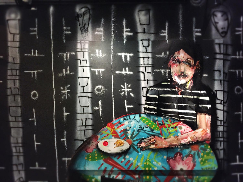 David Choe - Mural - Momofuku Ko - Los Angeles
