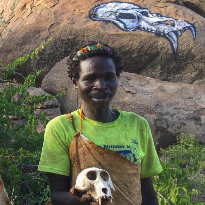 David Choe Neon Shirts and Heart-Shaped Baboon Noses - Mangola, Manyara, Tanzania