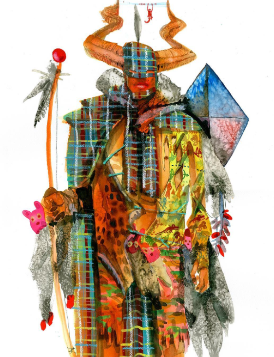 "David Choe ""Kite Man"", 2017"