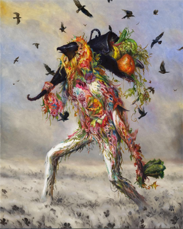 David Choe cult leader by artist Esao Andrews - The Choe Show