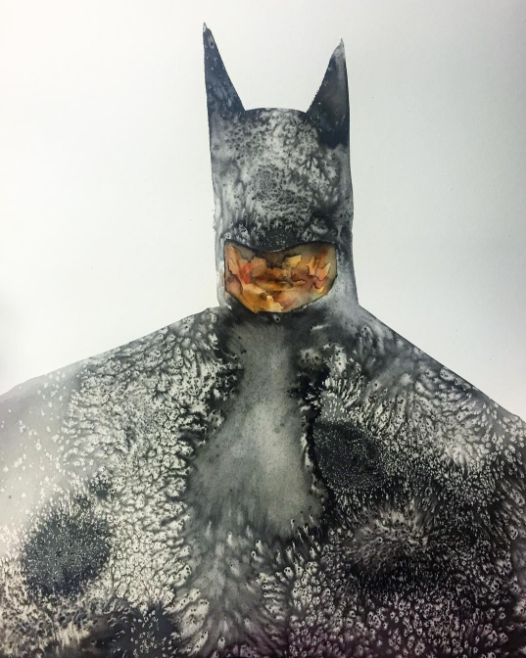 Batman watercolor by David Choe