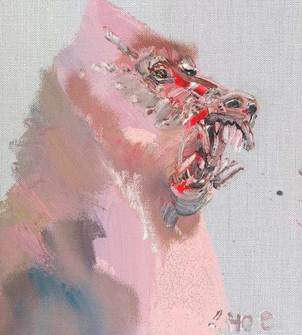 David Choe baboon painting