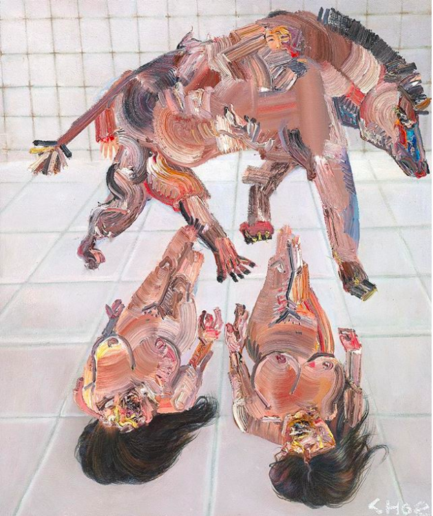 David Choe white padded room painting - the Choe Show