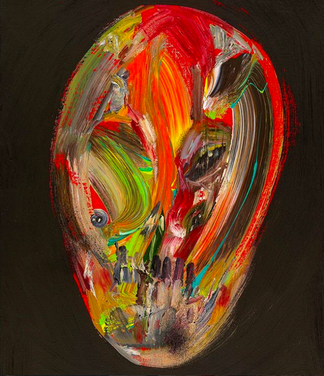 David Choe abstract face - the Choe Show