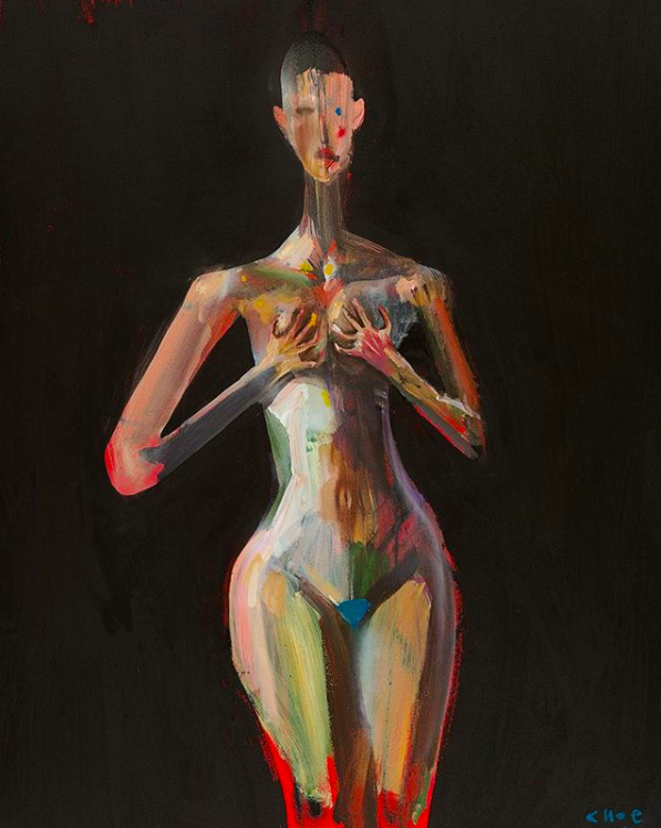 David Choe nude oil painting - The Choe Show