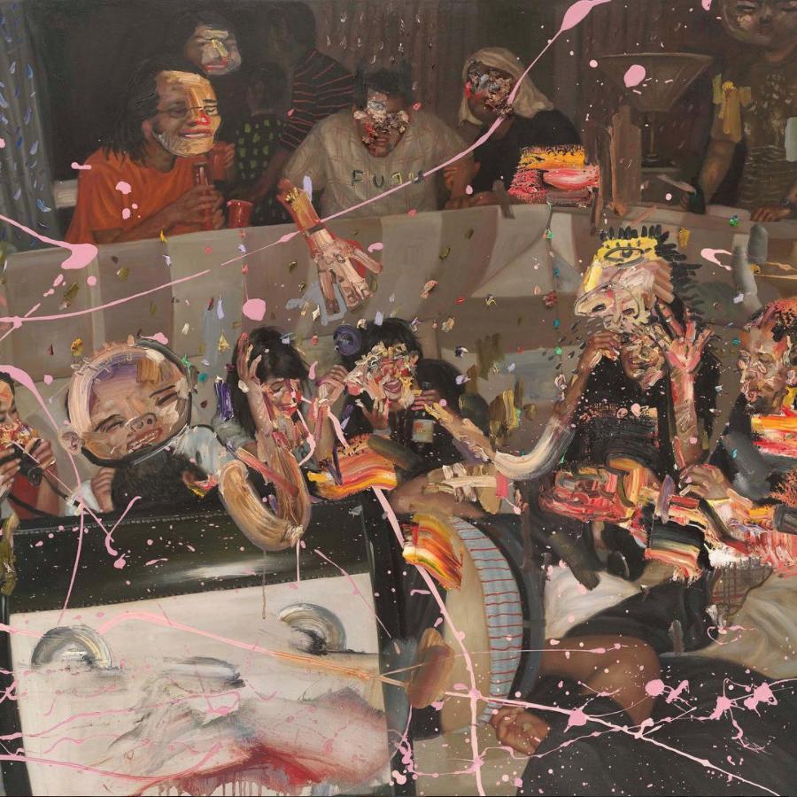 David Choe Sofa Kings painting - the Choe Show