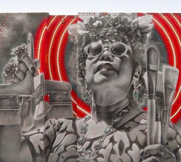 Mural of artist Jane Choe by El Mac