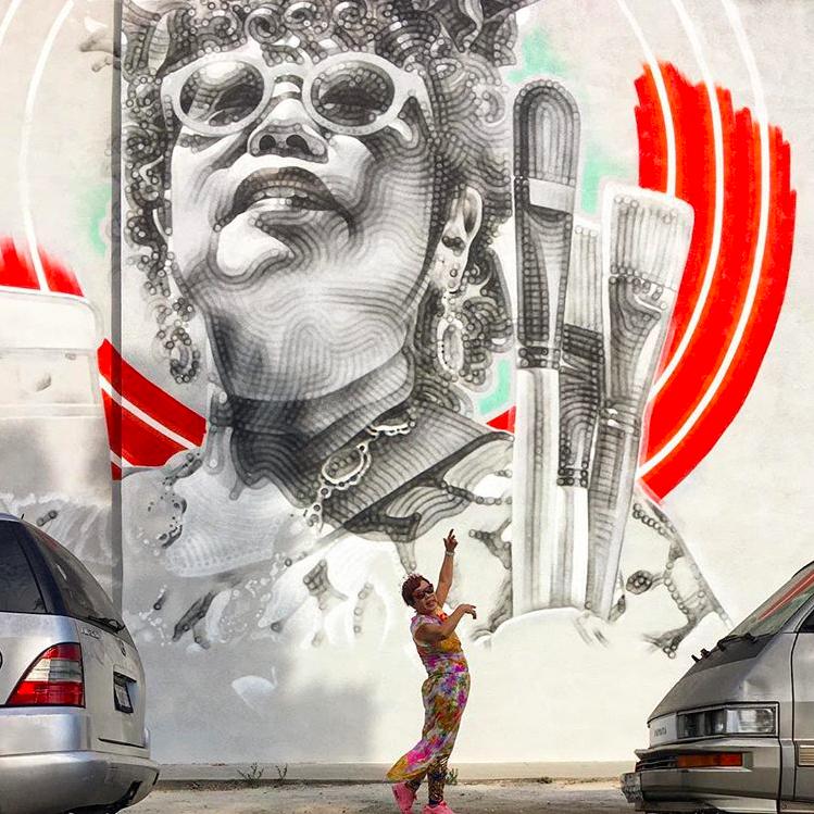 Jane Choe x Jane Choe mural by artist El Mac