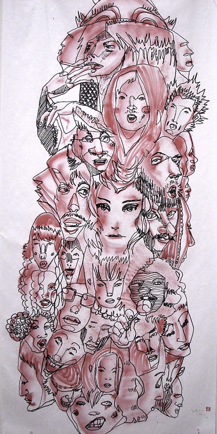 Headz by David Choe Frice Show 2006 art