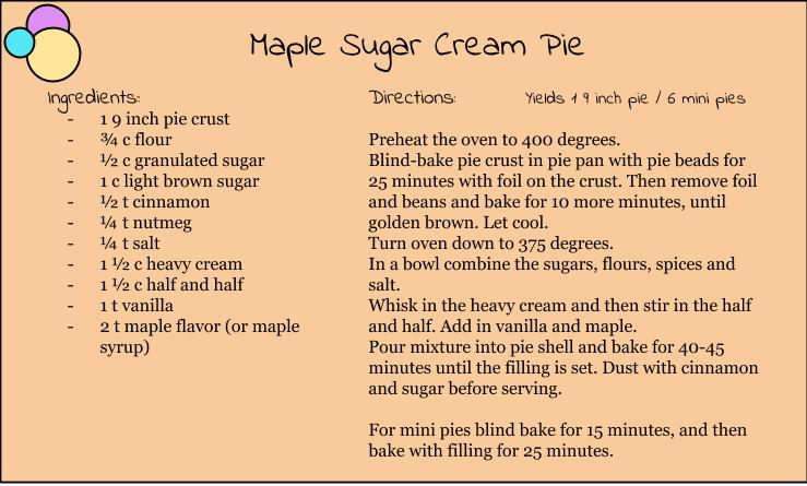 Maple Sugar Cream Pie Sugar Satire Sugar Satire